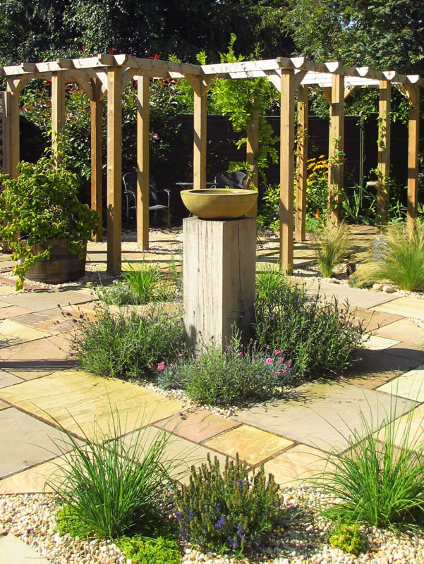 Completed Garden Central Focal Point