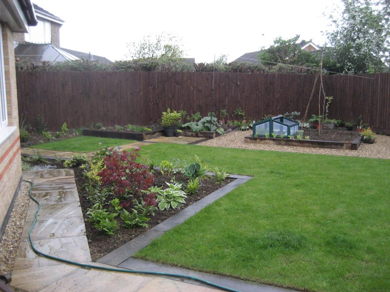 Completed and planted veg garden