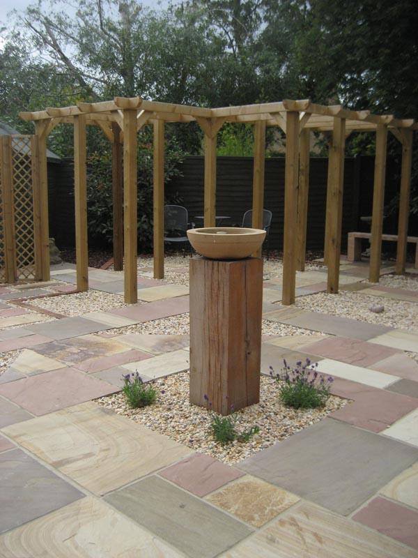 Hard landscaping complete no planting centre