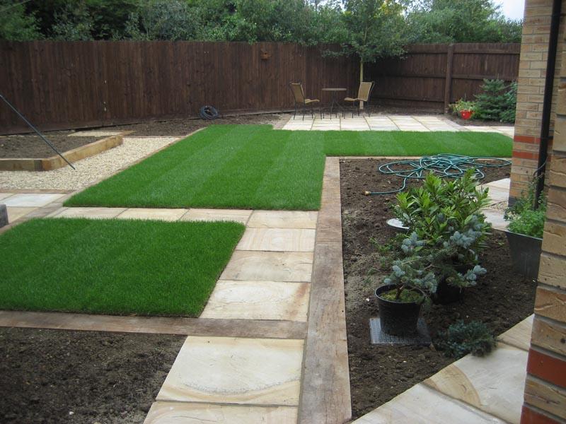 Tarragon Way completed no planting bistro table