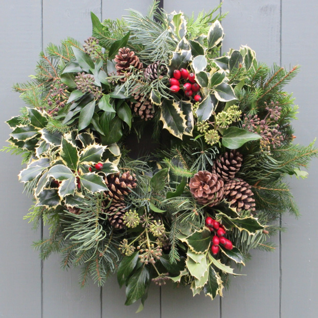 Grow your own christmas creative garden design Designer christmas wreaths uk