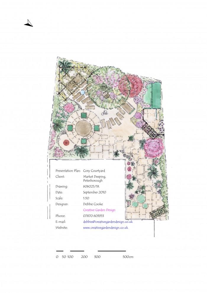Small_Space_Gardening_Cosy_Courtyard_Colour_Plan_DebbieCooke.com