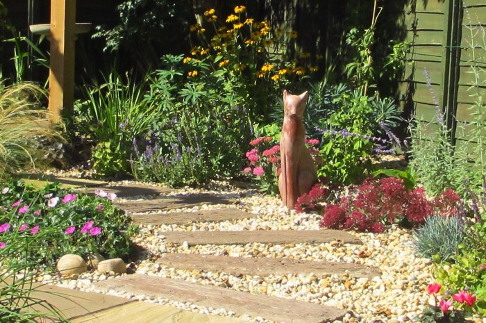 Small_Space_Gardening_Focal_Point_and_Pathways_Through_Planting_DebbieCooke.com